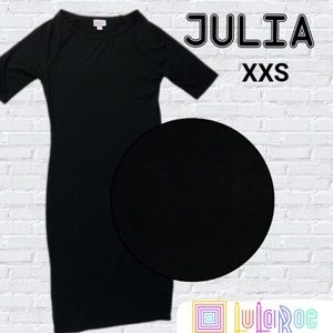 NWT LuLaRoe Solid Black Julia Dress